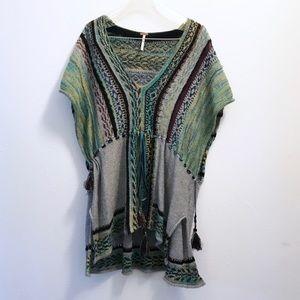 Free People Boho Knit Kimono Tunic